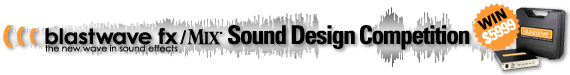 Blastwave FX & Mix Sound Design Competition Banner