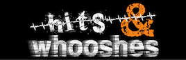 Hits and Whooshes Sound Effects Library Web Banner