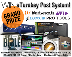 Blastwave FX and Avid Competition Grand Prize
